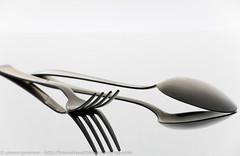 IMG_2191 (traccediscatti) Tags: life still forchetta bianco interni riflesso sfondo cucchiaio posate