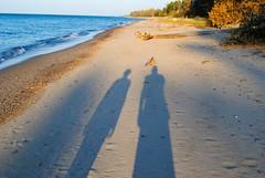 Daughter & I (Cragin Spring) Tags: sunset usa beach rural sand shadows unitedstates dusk michigan unitedstatesofamerica upnorth upperpeninsula lakesuperior michigansupperpeninsula