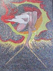 UK - London - Lambeth - William Blake mosaic in railway arch (JulesFoto) Tags: uk england london mosaic lambeth ramblers williamblake capitalwalkers