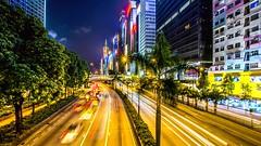 Evening traffic in Hong Kong (talv_ss) Tags: china city longexposure nightphotography urban hongkong lights nikon cityscape traffic citylife lighttrails gloucesterroad eastasia travelphotography d610