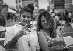 Mother and Daughter hanging out at the Brazos River Ribfest in Waco Texas (cdw21) Tags: blackandwhite canon texas waco event motheranddaughter