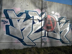 Reak of Anarchy (Randall 667) Tags: street urban art island graffiti artwork artist exploring providence crew anarchy writer rhode outcast 2012 tagger cranston reak seaz