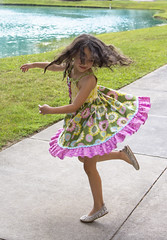 Twirly girl (charluna) Tags: colors easter child pastel spin twirl 2016