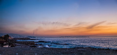 Beirut At Sunset, Lebanon (Paul Saad) Tags: sunset sea sky lebanon beach colors clouds colours pano panoramic beirut hdr harissa jounieh infiniteexposure