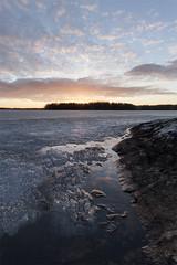 Spring (antz00) Tags: sunset sky sun lake cold ice nature clouds finland spring melt scape sastamala