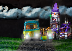 Scooby Doo - The Castle (Richard Sollorz Photography) Tags: school cloud moon holiday castle night photoshop fun toy photography model lego vampire cartoon fred layers scoobydoo shaggy styrofoam scooby diorama velma daphney mysteryvan