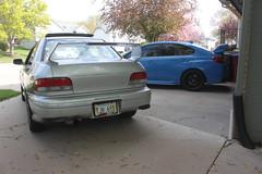 IMG_1065 (86Reverend) Tags: blue 2000 garage 25 subaru hyper 16 impreza wrx sti rs coupe 00 25rs 2016 serieshyperblue