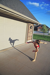 365 Project - April 25 (lupe1515) Tags: shadow project dance olivia kick garage driveway 365