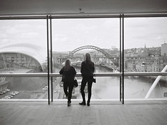 Grandstanding (bigalid) Tags: bw mill newcastle gallery kodak baltic gateshead april kodakbw400cn 2016 bw400cn c41 olympuspenee2