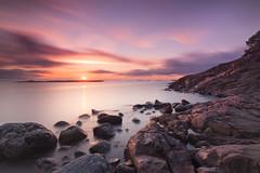 Seaside express (Tmuussoni) Tags: longexposure sunset orange seascape beautiful finland outdoors coast scenery violet kustavi leefilters leebigstopper ilobsterit