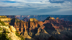 Grand Canyon Sunset (RolandBrunnPhoto) Tags: travel sunset arizona sky usa mountains southwest nature clouds walking reisen nikon rocks tour sonnenuntergang stones natur himmel wolken canyon berge steine area northamerica weite wandern schlucht felsen expanse flche nordamerika sdwesten d7000