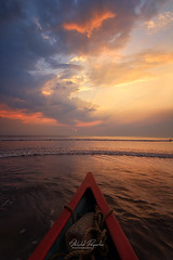 Lets Sail to Eternity (abhishek.deopurkar) Tags: ocean pink blue sunset sea summer sky india seascape beach water clouds landscape boats evening coast boat colorful waves ray dusk pastel tide indianocean peaceful delight maharashtra rays flowing magical