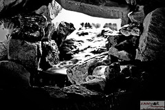 Glowing Cave B&W (1300 Photography) Tags: nightphotography water fountains