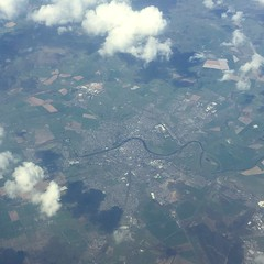 Dumfries from the air (mistdog) Tags: clouds plane scotland town dumfries photoscape