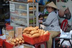Selling baguettes (HCMC, Vietnam 2016) (paularps) Tags: travel food beach nature island asia culture vietnam hoian tropical hanoi hue saigon hochiminhcity danang eiland reizen azi 2016 2015 tropisch arps condao paularps cophe nikond7100