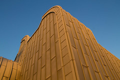 Museum Ludwig with Sky (Cherry Becwell) Tags: blue colour building museum architecture contrast canon germany photography golden december cologne dslr ludwig amature museumludwig amaturephotography 1100d