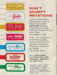 Skipper Booklet (neshachan) Tags: wristtags skipper skipperdoll vintage barbiebooklet skipperbooklet ephemera