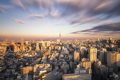 Tower (bing dun (nitewalk)) Tags: travel sunset tower japan tokyo long exposure cityscape
