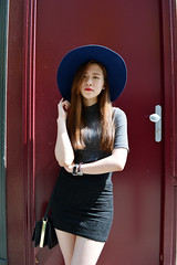DSC_3652 (Likeabyul) Tags: china portrait paris france fashion french asian chinese style korean hm asiangirl asos frenchblogger fashionblog widebrimmedhat fashionblogger highnecktop stylenanda