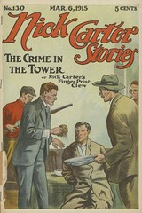"""The crime in the tower, or, Nick Carter's finger-print clew"" in Nick Carter stories, no. 130 (niudigitallibrary) Tags: fingerprints vandalism murder railroads tramps investigation nickcarter carternick dimenovels popularliterature designandconstruction streetandsmith carterchickfictitiouscharacter northernillinoisuniversitydigitallibrary"