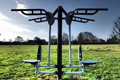 Outside Exercise. (ManOfYorkshire) Tags: field exercise outdoor machine free equipment council fitness sponsor doncaster exercie stoopslane bawrtryroad boltonhillfields