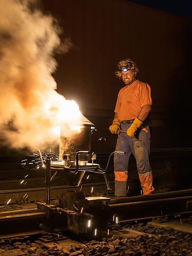 03.09.2015, thermite welding 01, Zábřeh na Moravě