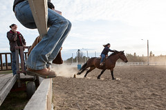 Watching (.o0 chris 0o.) Tags: canada cowboy quebec rodeo 2010 troisrivières stmaurice cheveau