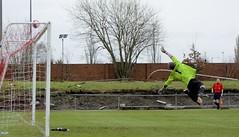 Keeper Kerr does well to get a hand to a Hashim Cole piledriver (Stevie Doogan) Tags: park west scotland scottish first super juniors division league holm clydebank bole maybole bankies mcbookiecom