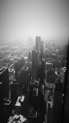 Again (michael.veltman) Tags: park chicago tower monochrome illinois looking south millenium through trump residential