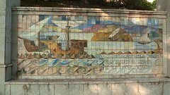 Tiled Mural (Jackie & Dennis) Tags: castle spain mural murcia cartagena