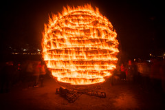 (Attila Pasek) Tags: people fire globe sphere spinning turning longexposuretime ciecarabosse