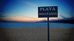 Solitaria (Orzaez212) Tags: color beach sign azul mar amrica outdoor venezuela playa olympus arena cielo soledad vargas letrero vieta calma cartel letras caribe retoque filtro suramrica flickrtravelaward