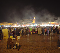 Evening in Djemaa el Fna (nisudapi) Tags: night evening steam morocco marrakech marrakesh oldcity 2015 djemaaelfna
