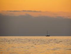 On a golden sea (alf.branch) Tags: sunset sea seascape water boat olympus zuiko irishsea calmwater partonbeach olympusomdem1 zuiko40150mmf456r