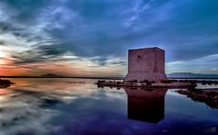 Torreon (JoseQ.) Tags: mar agua mediterraneo salinas cielo nubes puestadesol santapola tamarit largaexposicin filtrosnd toreon