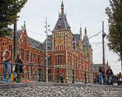 Central Railway Station Amsterdam's transportation hub (PhotosToArtByMike) Tags: holland netherlands dutch amsterdam centercity railwaystation centrum amsterdamcentraal centralrailwaystation northholland