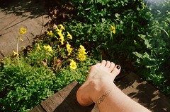 self portrait (babel.rachael) Tags: bicycle tattoo self foot body