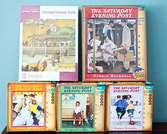 Norman Rockwell jigsaw puzzles (hz536n/George Thomas) Tags: winter copyright oklahoma spring pomegranate puzzle canon5d jigsaw stillwater normanrockwell 2016 ef1740mmf4lusm cs5 georgethomas buffalogames