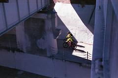 Twin Riders (bhop) Tags: california street city film bike bicycle 50mm cycling cyclists diy los nikon ride angeles path superia iso400 streetphotography 400 fujifilm nikkor f4 culver f4s f18d v700 unicolor shootfilm filmisnotdead