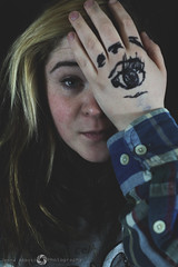 Hannah (JennaAbbottPhotography) Tags: eye girl dark eyes drawing grunge hipster cutie grungy grungegirl