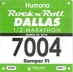 2016-03-20 Dallas RnR Bib Jim (jimward85) Tags: dallas running semperfi dallastx dallasrocknroll