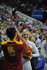 USC CHEERLEADER (SneakinDeacon) Tags: basketball cheerleaders providence tournament usc ncaa friars bigeast pac12 pncarena
