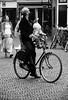 looking up (Jan Herremans) Tags: street bw bicycle candid nederland alkmaar 2010 woophy janherremans