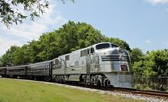 """CBQ 9911A EMD E5 """"Burlington Route"""" (Conrail1978) Tags: railroad chicago museum burlington train quincy nc engine loco route event transportation passenger e5 unit streamliner emd cbq e5a 9911a"""