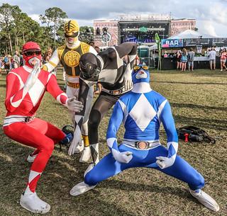 Okeechobee Musis & Arts Festival 2016 Power Rangers