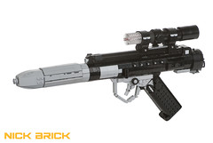Star Wars DH-17 Blaster Pistol (Nick Brick) Tags: life rebel star starwars gun lego 11 size weapon pistol rebellion wars prop blaster battlefront anewhope blastech dh17 sterlingsmg nickbrick