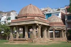 Pavilions inside the complex (VinayakH) Tags: india lake architecture tank delhi graves tombs hauzkhas delhisultanate khilji
