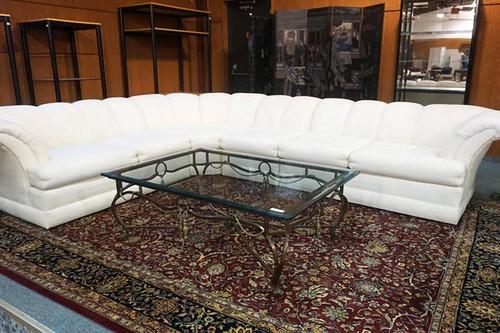 Modern 4 Piece Sectional Sofa ($275.00); Oriental Rug ($115.00)