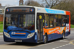 GX58 GMU, Queen Street, Portsmouth, April 18th 2016 (Suburban_Jogger) Tags: travel bus public canon spring transport hampshire portsmouth april vehicle passenger alexander dennis queenstreet stagecoach omnibus route23 2016 24105mm 27557 60d enviro200 gx58gmu