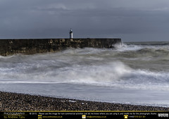 Blurring the Waves (andrewtijou) Tags: uk england storm sussex europe waves unitedkingdom harbour gale newhaven crashingwaves roughseas harbourwall andrewtijounikond7000